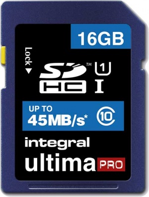 Integral SDHC 16GB Tarjeta (Class10 - 45MB/s)
