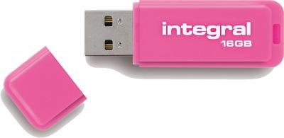 Integral Neon USB Unidad 16GB Unidad (Pink)