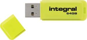 Integral Neon USB Unidad 64GB Unidad (Yellow)