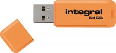 Integral Neon USB Unidad 64GB Unidad (Orange)
