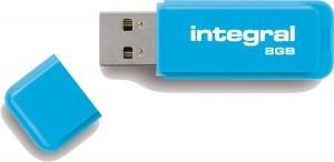 Integral Neon USB Unidad 8GB Unidad (Blue)