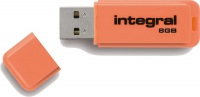 Integral Neon USB Unidad 8GB Unidad (Orange)