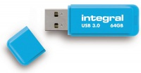 Integral Neon USB 3.0 Flash Unidad 64GB Unidad (Blue)