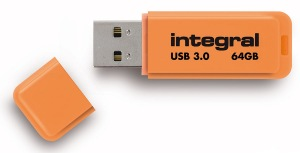 Integral Neon USB 3.0 Flash Unidad 64GB Unidad (Orange)
