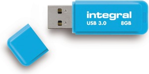 Integral Neon USB 3.0 Flash Unidad 8GB Unidad (Blue)