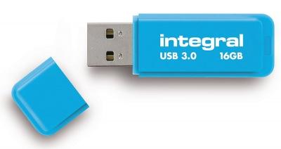 Integral Neon USB 3.0 Flash Unidad 16GB Unidad (Blue)
