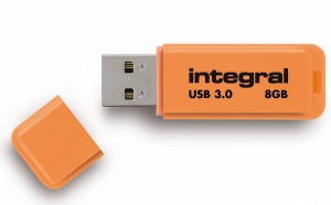 Integral Neon USB 3.0 Flash Unidad 8GB Unidad (Orange)