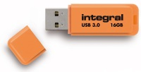 Integral Neon USB 3.0 Flash Unidad 16GB Unidad (Orange)