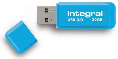 Integral Neon USB 3.0 Flash Unidad 32GB Unidad (Blue)