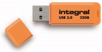 Integral Neon USB 3.0 Flash Unidad 32GB Unidad (Orange)