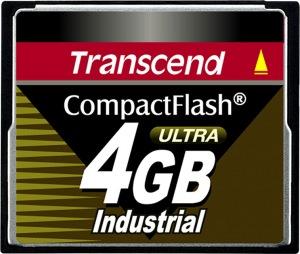 Transcend Industrial Ultra Compact Flash 4GB Tarjeta (100x)