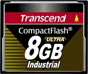 Transcend Industrial Ultra Compact Flash 8GB Tarjeta (100x)