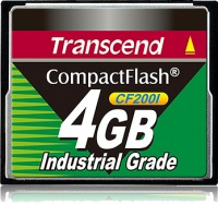 Transcend Industrial Ultra Compact Flash 4GB Tarjeta (200x)
