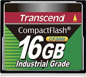 Transcend Industrial Ultra Compact Flash 16GB Tarjeta (200x)