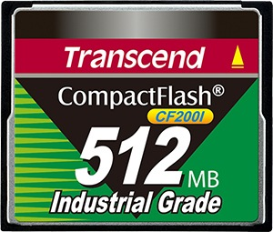 Transcend Industrial Ultra Compact Flash 512MB Tarjeta (200x)