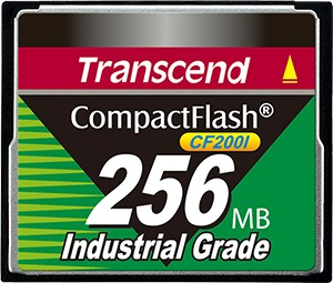 Transcend Industrial Ultra Compact Flash 256MB Tarjeta (200x)