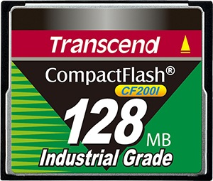 Transcend Industrial Ultra Compact Flash 128MB Tarjeta (200x)