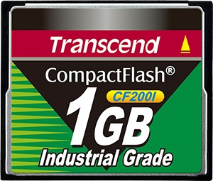Transcend Industrial Ultra Compact Flash 1GB Tarjeta (200x)