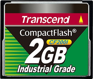 Transcend Industrial Ultra Compact Flash 2GB Tarjeta (200x)